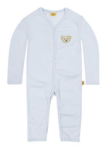 Steiff – Grenouillère/pyjama unisexe, Bleu (Steiff baby blue), FR : 9 mois (Taille fabricant : 74)