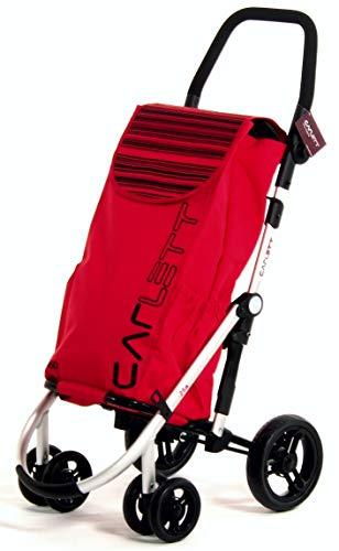 Carlett Lett460 Velvet Shopping Trolley, Red