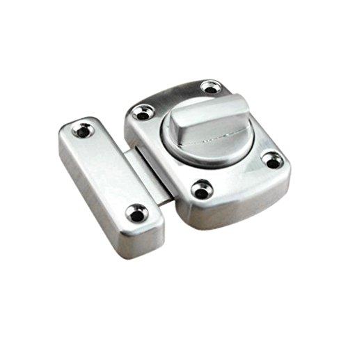 perfk Bagno Serratura Porta WC Armadio Armadio Girare Scrocco Privacy - Argento S