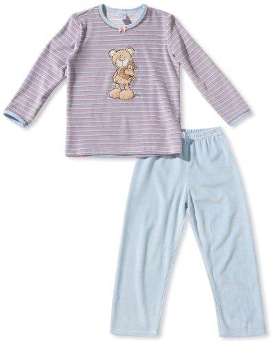 Schiesser Mädchen Pyjama 136010-504, Gr. 116 (5Y), Rot (504-pink)
