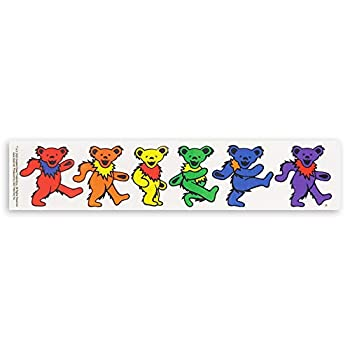 Grateful Dead–5Jerry Bears On Clear Background –9.5  X 2.5 Sticker / Decal