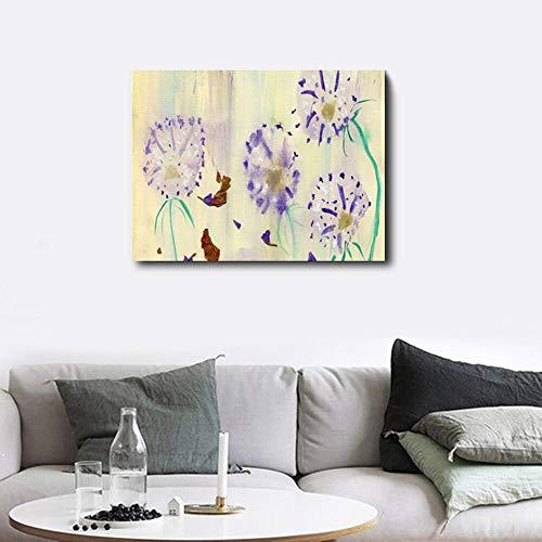 hetingyue Univers planète Terre Panneau Toile Mur Art Abstrait Peinture à l'huile décoration de la Maison décoration de Mariage Vintage sans Cadre Peinture 60x80 cm