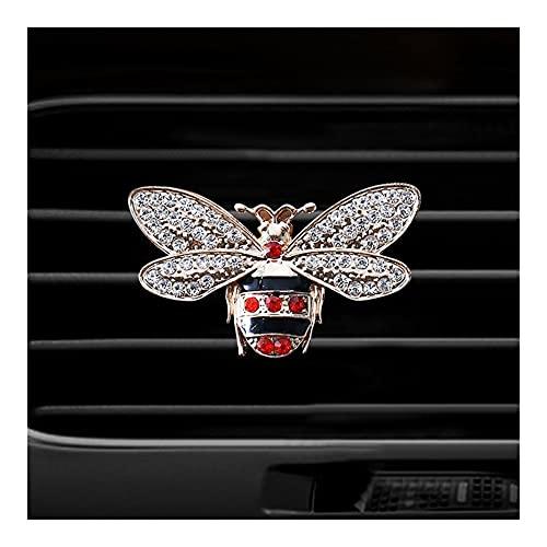 Difusor de aceite esencial de coche Difusor de la botella de perfume del ambientador del coche en el automóvil Aire Acondicionador Aire...