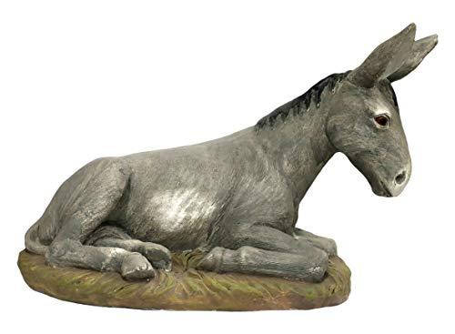 Ferrari & Arrighetti Nativity Scene Statue: Donkey - Martino Landi Collection - 50 cm