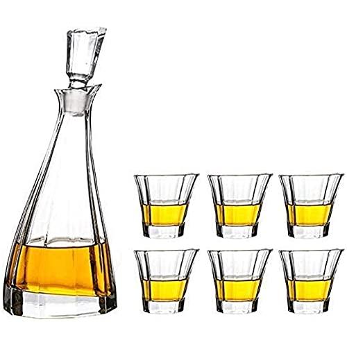 Vaso de Vino de Whisky Juego de Decantador de Whisky de Cóctel Vasos de Botella Decantadores de Licor Caja de Regalo de Garrafa para Vodka Escocés