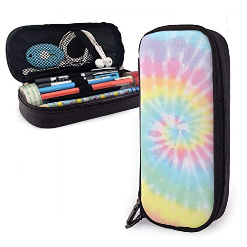 Pastel Tie Dye Pencil Case Holder Large Capacity Pencil Pouch Stationery Organizer with Zipper for School Office,Multifunction Cosmetic Makeup Bag