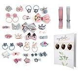 myestado - 36 Stk. beliebte Haarspangen Mädchen Baby Haarschmuck Mädchen - ideal als Geschenk Set oder einen feierlichen Anlass - inkl. Bonus Heft