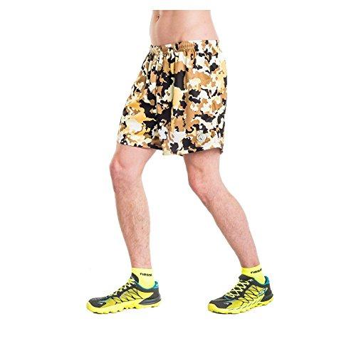 Nessi Short MSK Pantalon de Course Pantalon Fitness pour Homme Brown Puzzles XL 03 Brown Puzzles