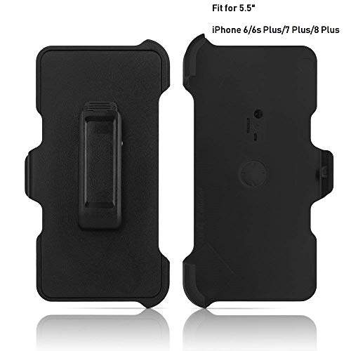 "2 Pack Replacement Holster Belt Clip for Apple iPhone 6 Plus/6S Plus/7 Plus/8 Plus Otterbox Defender Case(Only 5.5"")"