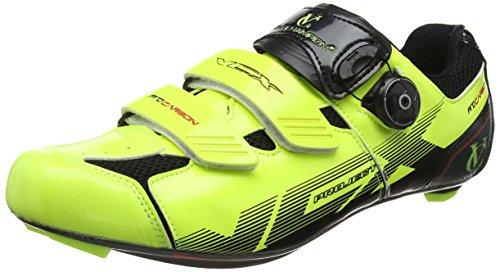 VeloChampion Zapatillas de ciclismo (par) VCX con planta de fibra de carbono Fluoro Yellow/Black 42