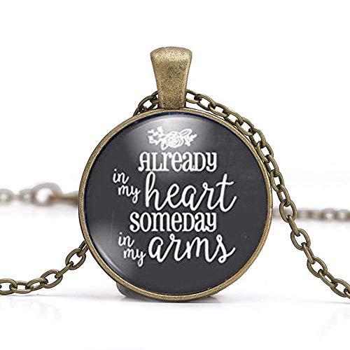 Halskette mit Fehlgeburt – Geschenk für Schwangerschaftsverlust – Geschenk für Fehlgeburt – Schmuck für Fehlgeburt – Andenken für den Verlust von Kleinkindern – Geschenk für Trauermütter