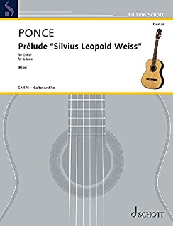 Prelude 'silvius Leopold Weiss': First Edition Reconstructed by Johannes Klier Guitar