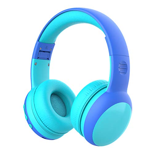 gorsun Bluetooth Kids Headphones with 85dB Limited Volume, Children's Wireless Bluetooth Headphones, Foldable Bluetooth Stereo Over-Ear Kids headsets - Blue
