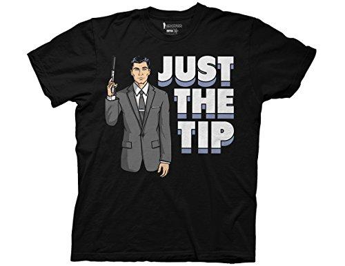 Ripple Junction Archer Just The Tip Adult T-Shirt Large Black