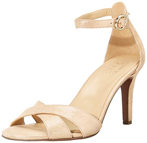 Naturalizer Women's Keyson Heeled Sandal, Taupe Gold, 10.5 M (B)