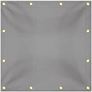 Tarps in Multiple Sizes 18 OZ Waterproof Tarpaulin - 100% UV & Weather Resistant Vinyl Coated PVC Tarps - Perfect for Canopy Tent, Boat or Pool Cover (10' x 12', Grey)