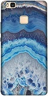Cekuonline® Huawei P9 Lite (2016) Kılıf Desenli Esnek Silikon Kapak - Ametist Taşı