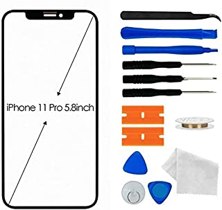 UVER Original Apple iPhone 11 Pro Screen Replacement, Front Outer Lens Glass Screen Replacement Repair Kit for Apple iPhon...