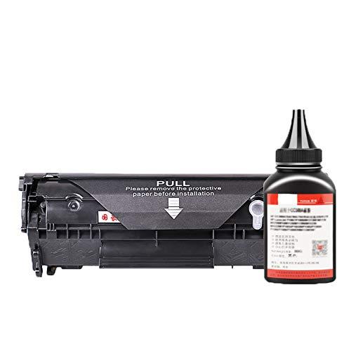 GBYN El Polvo fácil de Agregar es Adecuado para el Cartucho de tóner HP P1005 HP12A HP 1020 Plus 1010 HP 1005 Q2612A Cartucho de tóner 1018 M1005MFP Cartucho de Impresora