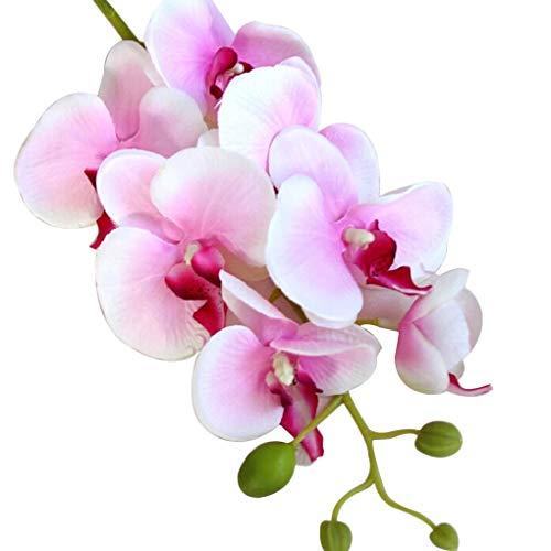 Morza Seda Artificial orquídea Phalaenopsis Flor del Tallo del Ramo de la Fiesta en casa decoración de jardín