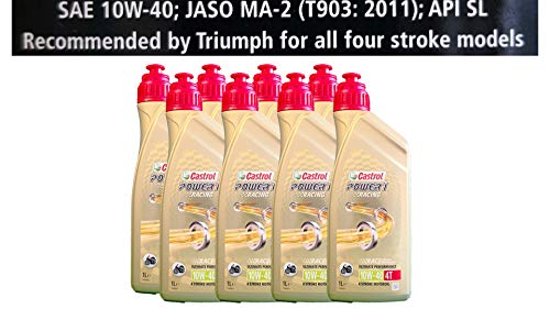 Castrol Power 1 Racing 4T 10W-40 motorolie 8x1 liter Specificaties API SJ JASO MA2