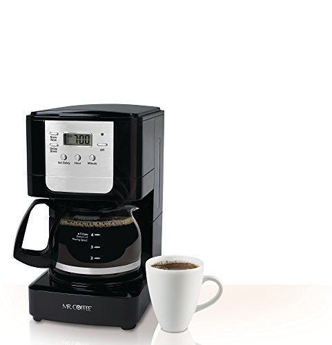 Mr. Coffee Advanced Brew 5-Cup Programmable Coffee Maker Black/Chrome