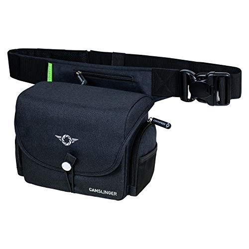 COSYSPEED Camslinger Outdoor MKII Kameratasche mit Hüftgürtel für Systemkameras und kleine DSLR-Kameras Schwarz