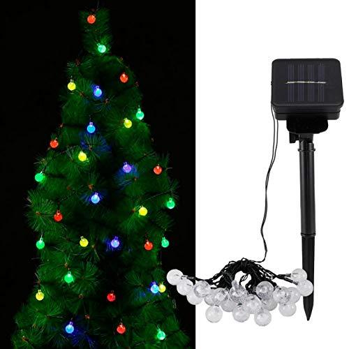 Cadena de Luces de Fiesta, Cadena de Luces LED esféricas LED solares, para jardín al Aire Libre, decoración de Bodas, decoración de Dormitorio