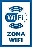 akrocard Cartel Resistente PVC - Zona WiFi - Ideal para Colgar y Advertir