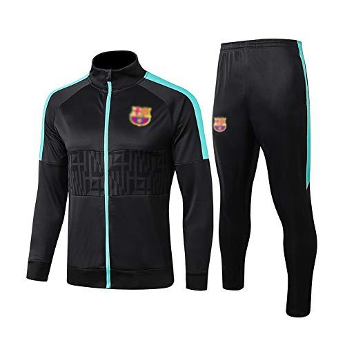 Dauerhaft Fußball-Trainingsanzug Herren Langarm Sportanzug Jersey Black - A1062 Beiläufig (Color : Black, Size : L)