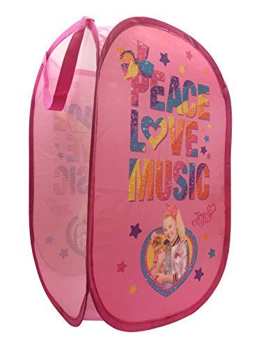 Jay Franco Nickelodeon JoJo Siwa Peace Love Music Pop Up Hamper, Pink $3.89 at Amazon