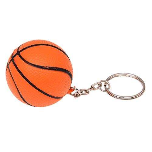 cherrypop Llavero con forma de baloncesto naranja