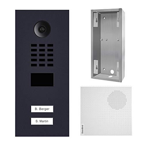 doorbird–Kit d2102V-ral7016+ a1061W + sup-d2102V-d2103V–Videoportero (IP 2timbres a +–Timbre y Soporte
