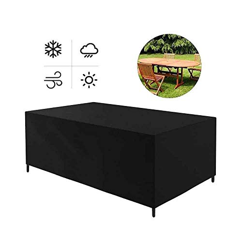 ASDFGHT Covers For Garden Furniture Patio Loveseat Picnic Table Protection Tarpaulin Sunscreen Dust-proof, Custom Size (Color : Black, Size : 240×140 ×90cm)