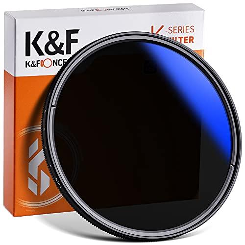 K&F Concept 62mm Variable Neutral Density Filter ND2 to ND400(9 Stop) Fader Adjustable ND Lens Filter, Ultra-Slim/Multi Coated for Camera Lens