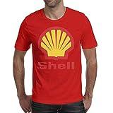 GuLuo Shell-Gasoline-Gas-Station-Logo Mens T Shirt O Neck Slim Fit Short Sleeve Tee