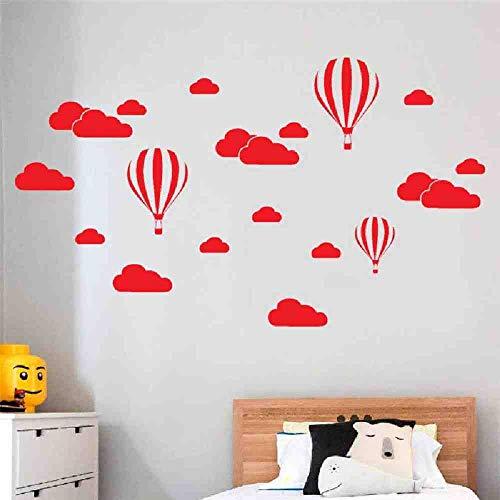 JPDP grote wolken ballon muur Stickers voor kinderen kamers Vinyl Home Decor kwekerij decoratie slaapkamer DIY muurschildering verwijderbare cartoon, rood