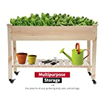 Raised garden bed with legs 48x23x32 inch wheels elevated garden bed wood planter box kit for vegetable flower outdoor… 14 ✔【high quality materials】:the raised garden bed is made of no paint, garden bed use non-toxic fir wood, which is known for its strength and dimensional stability as well as its natural resistance to rot and pests. The 0. 6'' thick solid wood boards are only sanded to prevent any undesired injury caused by wood splinters. ✔【nature gardening buddy】:the garden bed use natural wood color makes your garden and greenhouse more original and healthy, and its natural wood grain on the boards bring a rustic and natural style to your garden. ✔【ergonomic design】:the garden bed built with a set of locking wheels to move the planter from place to place. The wood garden bed user-friendly design,the height about garden raise bed is 32. 3 inch, the people who have a backache or knee pain can easily manage plants,you don't need to bend down or keep down.