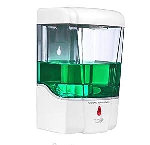 immagine di Dispenser Automatico Dosatore da Parete Sapone Gel Disinfettante sensore di Movimento fotocellula infrarossi fissato a Muro o piedistallo Cucina Bagno Ufficio Hotel Locali Pubblici 700ml
