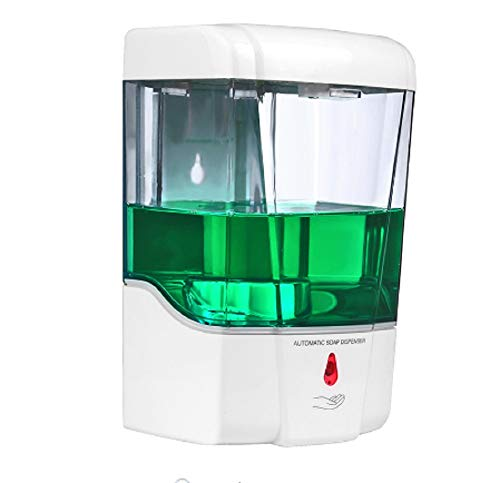 Dispenser Dosatore Sapone Liquido Automatico Classico da Parete Gel Disinfettante sensore di Movimento fissato a Muro o piedistallo Cucina Bagno Ufficio Hotel Ristorante Locali Pubblici 700ml