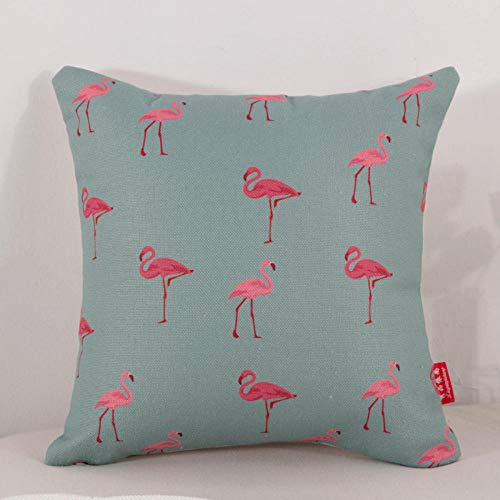 WANINE Kissen Wohnzimmer Schlafzimmer Sofa Kissen Kissen Büro Lendenkissen Auto Rückenlehne Stuhl Kissen-Fliegender Flamingo_40 * 40 cm