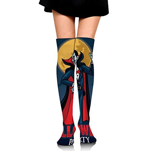 High Thigh Socks for Unisex Best Moisture Control white-Vampire Fangs Black Red (7)1 Athletic Compression Socks for Running, Travel, Basketball, Tennis