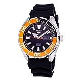 Seiko 5 Sports SRPC59 Men's Rubber Band Orange Bezel 100M Automatic Dive Watch