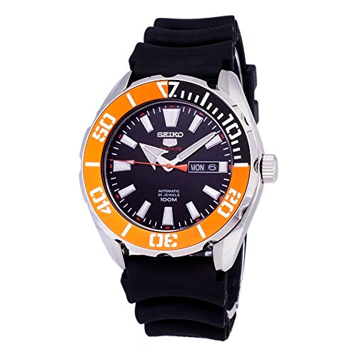 Seiko 5 Sports SRPC59 Men's Rubber Band Orange...