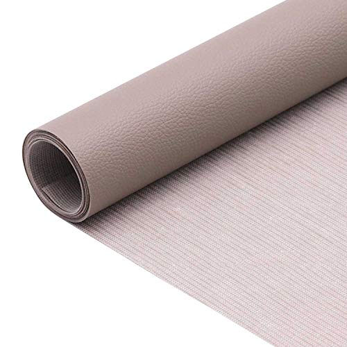 1 rollo autoadhesivo de cuero de la PU parche kit de reparación de primeros auxilios para sofá asiento de coche muebles chaquetas bolso 50 x 137 cm (Grigio)