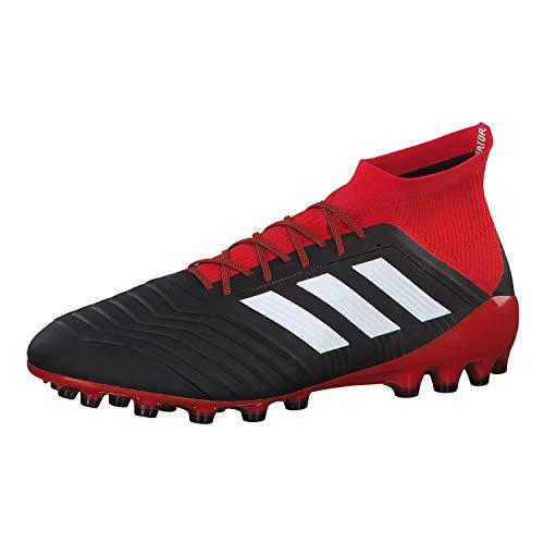 Adidas Predator 18.1 AG, Botas de fútbol Hombre, Negro (Negbás/Ftwbla/Rojo 001), 41 1/3 EU