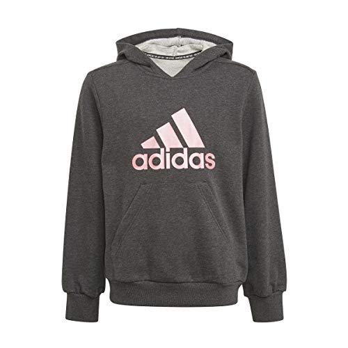 adidas G Bos Hd Sweatshirt für Mädchen, Mädchen, Sweatshirt, GM6957, Blckme / Rosbru, 164