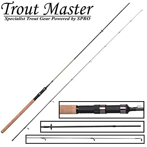 Trout Master Trout Spoon Tactical 2,4m 1-6g - Ultra Light Rute zum Spinnangeln auf Forellen, Forellenrute, Spinnrute, Angelrute