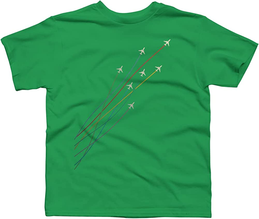 Design By Humans Racing Jets Boys Graphic Tee