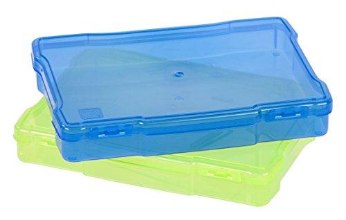 IRIS Photo de 12,7 x 17,8 cm et Craft étui de Rangement, Bleu/Vert, 5\